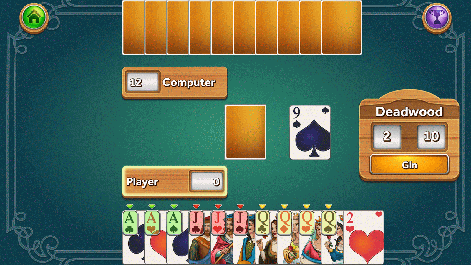 gin rummy strategy simulations