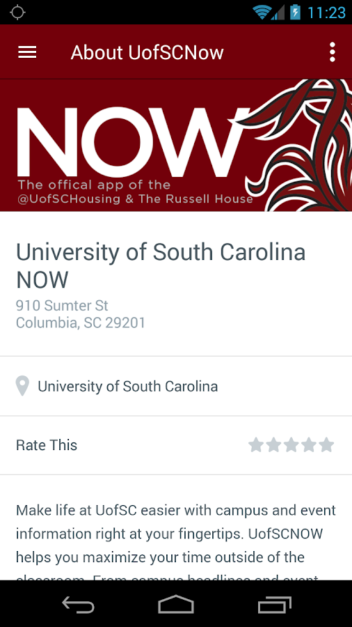 UofSC NOW- screenshot