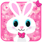 Cute Bunny Pink Rabbit Keyboard Theme Android APK Download Free By My Lovely Android Themes 2018