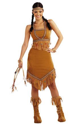 Indiandräkt, tvådelad