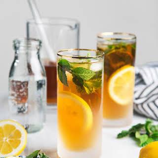 Mint Green Tea Sodas.