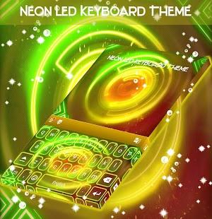 Neon LED Keyboard Téma - náhled