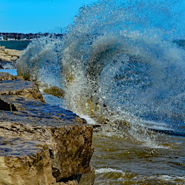 Crashing Waves by Marc Loranger - Nature Up Close Water ( waves )