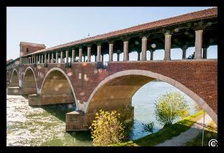 Photo: beautiful bridge over the river in Pavia