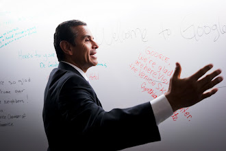 Photo: L.A. Mayor Antonio Villaraigosa at our office opening.