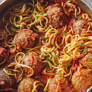 One-Pot Zoodles and Meatballs.
