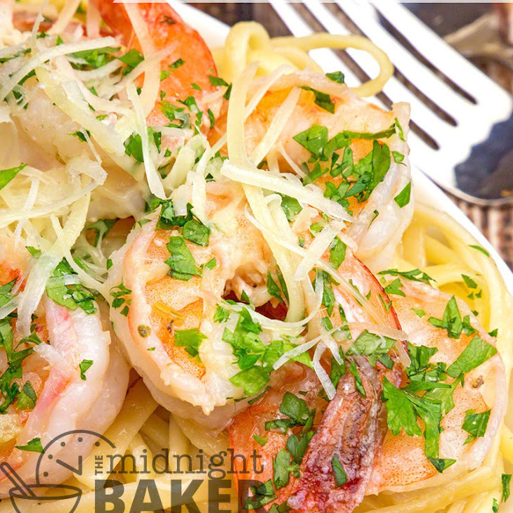 Garlicky Shrimp Scampi with Herb Pasta Recipe