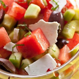 Watermelon, Tomato, and Kalamata Olive Salad