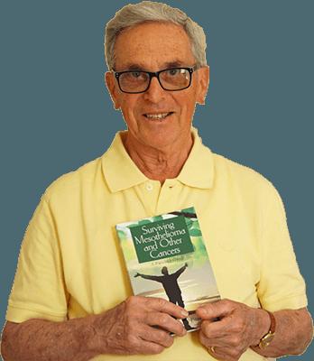 paul kraus mesothelioma survivor holding book