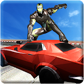 Iron Hero vs Transform Robots Car Wars