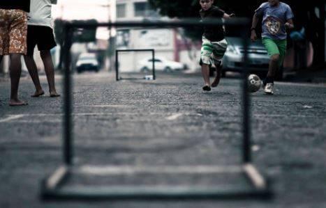 Concrete football field