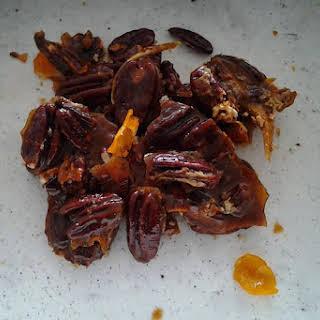 Candied Orange Pecans With Bourbon.