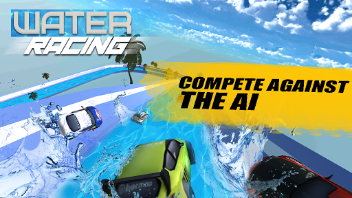 Water Surfing Car - Waterpark Stunts