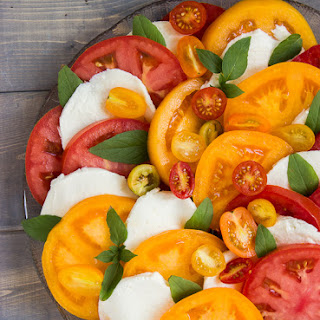 Tomato Basil Mozzarella Salad.