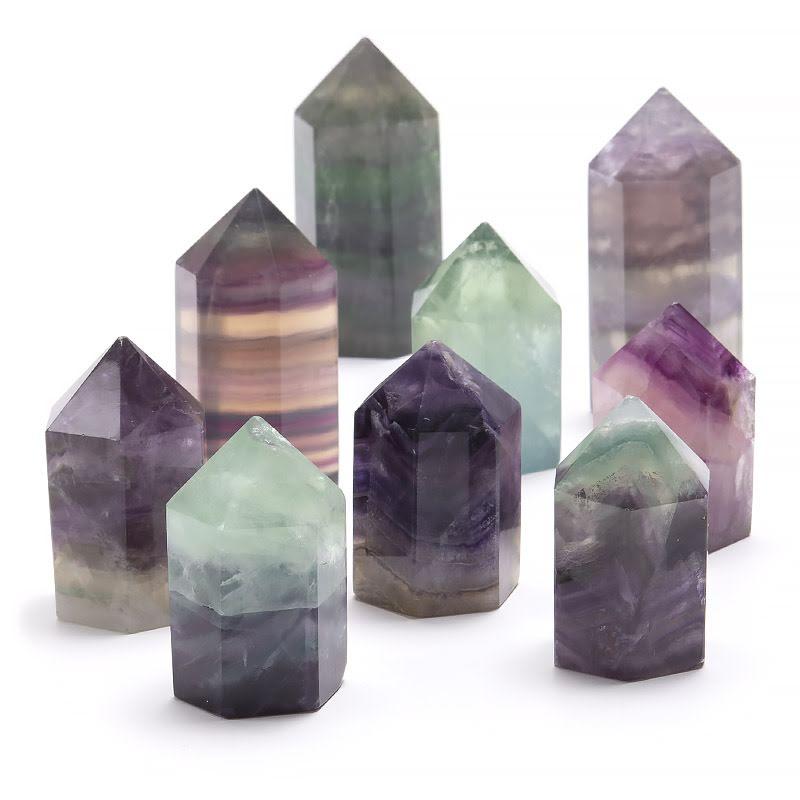 Fluorit, kristallspets