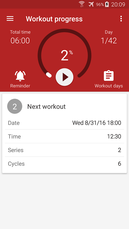 Abs workout- screenshot