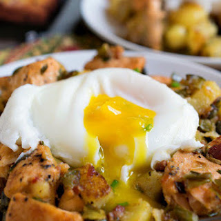 Salmon Hash with Poached Eggs