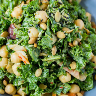 Kimchi Kale Salad [Vegan]