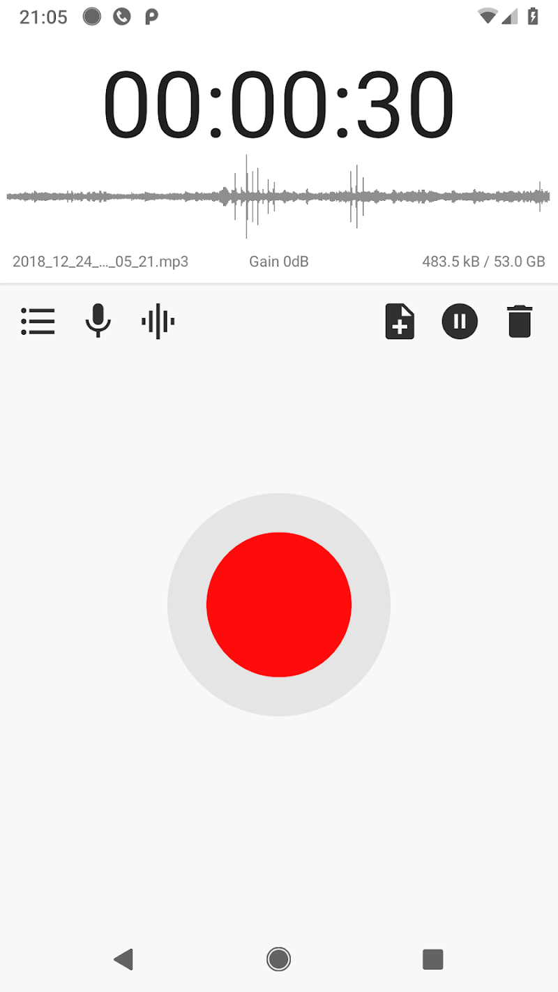 MP3 Voice and Audio Recorder - ASR Screenshot 1