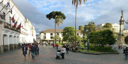 Photo: Quito, Grand Plaza, evening