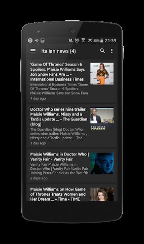 Screenshots for Maisie Williams Fan App