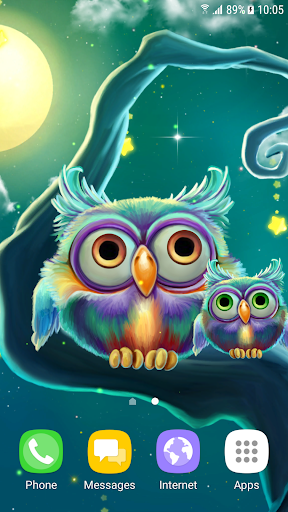 Cute Owls Live Wallpaper 1.0.8 screenshots 2