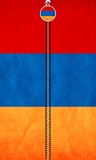 Armenia Flag Zipper UnLock