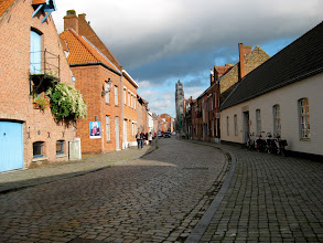 Photo: Bruges is a very well-defined and enclosed medieval city. It's a quite picturesque walk into the old part.