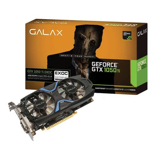 Card màn hình Galax 4GB GTX 1050Ti EXOC