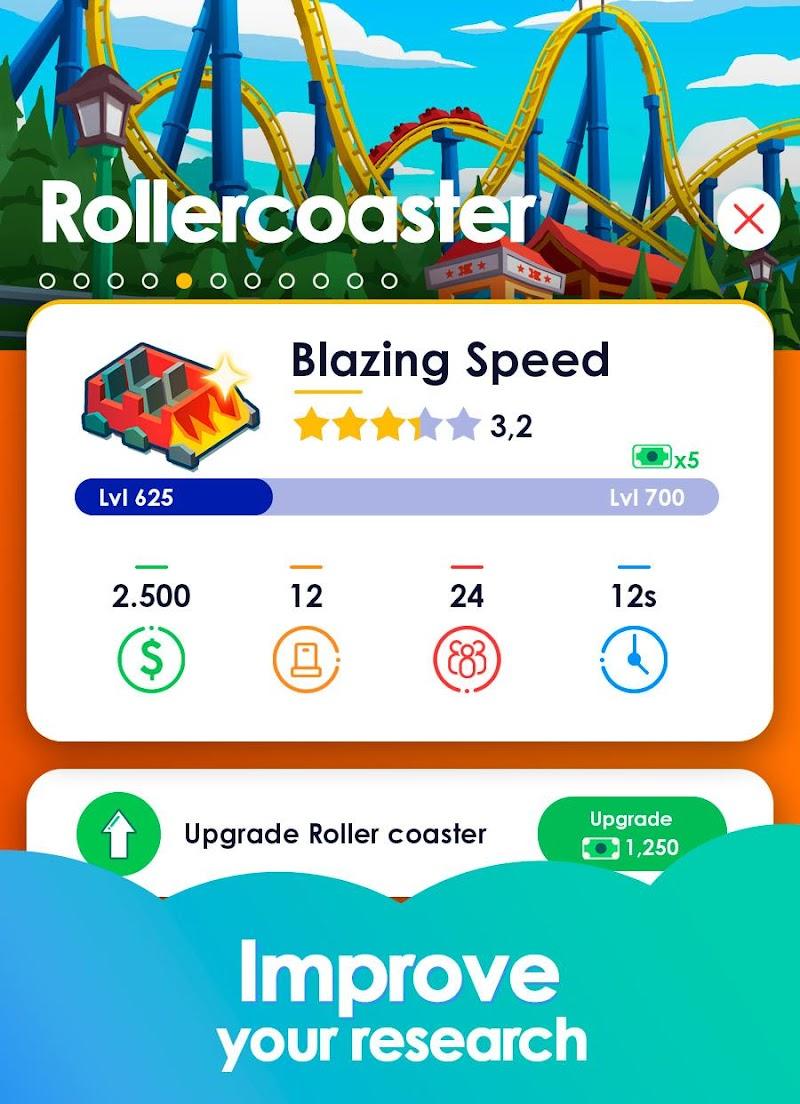 Idle Theme Park Tycoon - Recreation Game Screenshot 2
