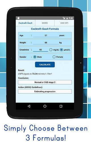 eGFR Calculators Pro: Estimate Renal Function 4.6 screenshots 3