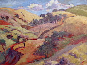 Photo: Vaqueros Terrain, acrylic on canvas by Nancy Roberts, copyright 2014. Private collection.