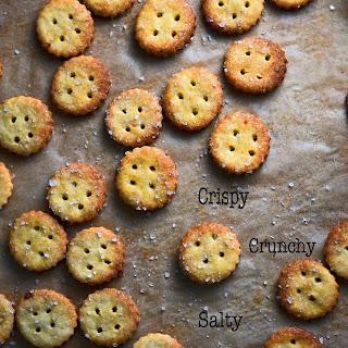 Gluten-free Parmesan Snack Crackers.