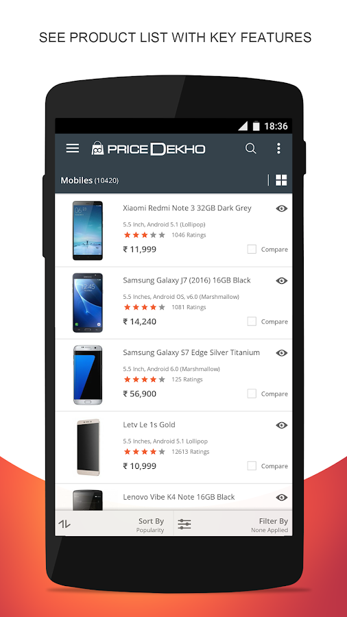 Compare Mobile Price India App- screenshot