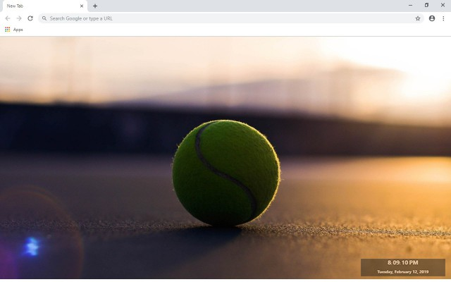 Tennis New Tab & Wallpapers Collection