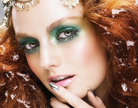 Photo: Green Fairy makeup