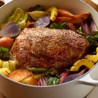 Herb Roasted Pork and Assorted Root Vegetables