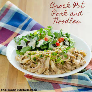 Crock Pot Pork and Noodles.