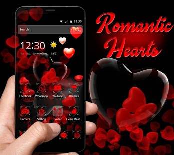 Romantic Red Love Heart Theme - náhled