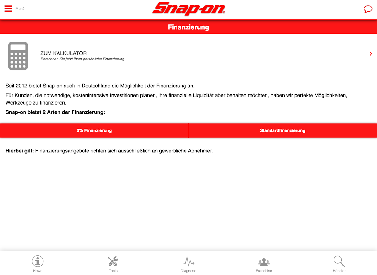 Snap-On Tools Deutschland- screenshot