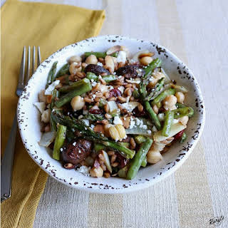 Roasted Mushroom and Green Bean Farro Salad.