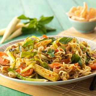 Curry Lemongrass & Chilinoedels met baby maïs