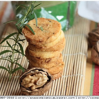 Rosemary Walnut Shortbread