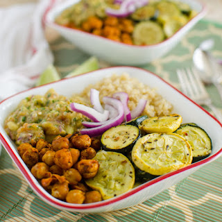 Roasted Veggie & Quinoa Bowl With Avocado Sauce