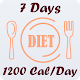 Diet plan for 7 days (only 1200 calories each day) APK