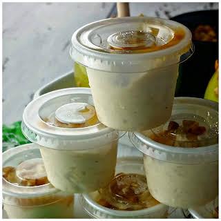 Caramel Apple Pudding Shots.