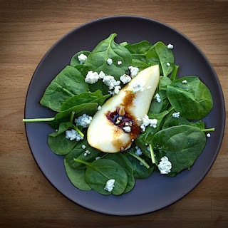 Fall Pear and Spinach Salad