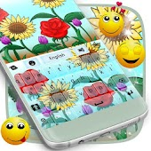 Keyboard Theme Flowers