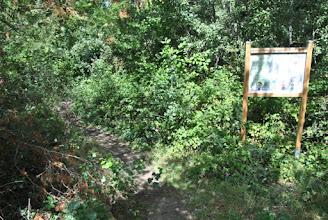 Photo: Le panneau d'accueil du Sentier.