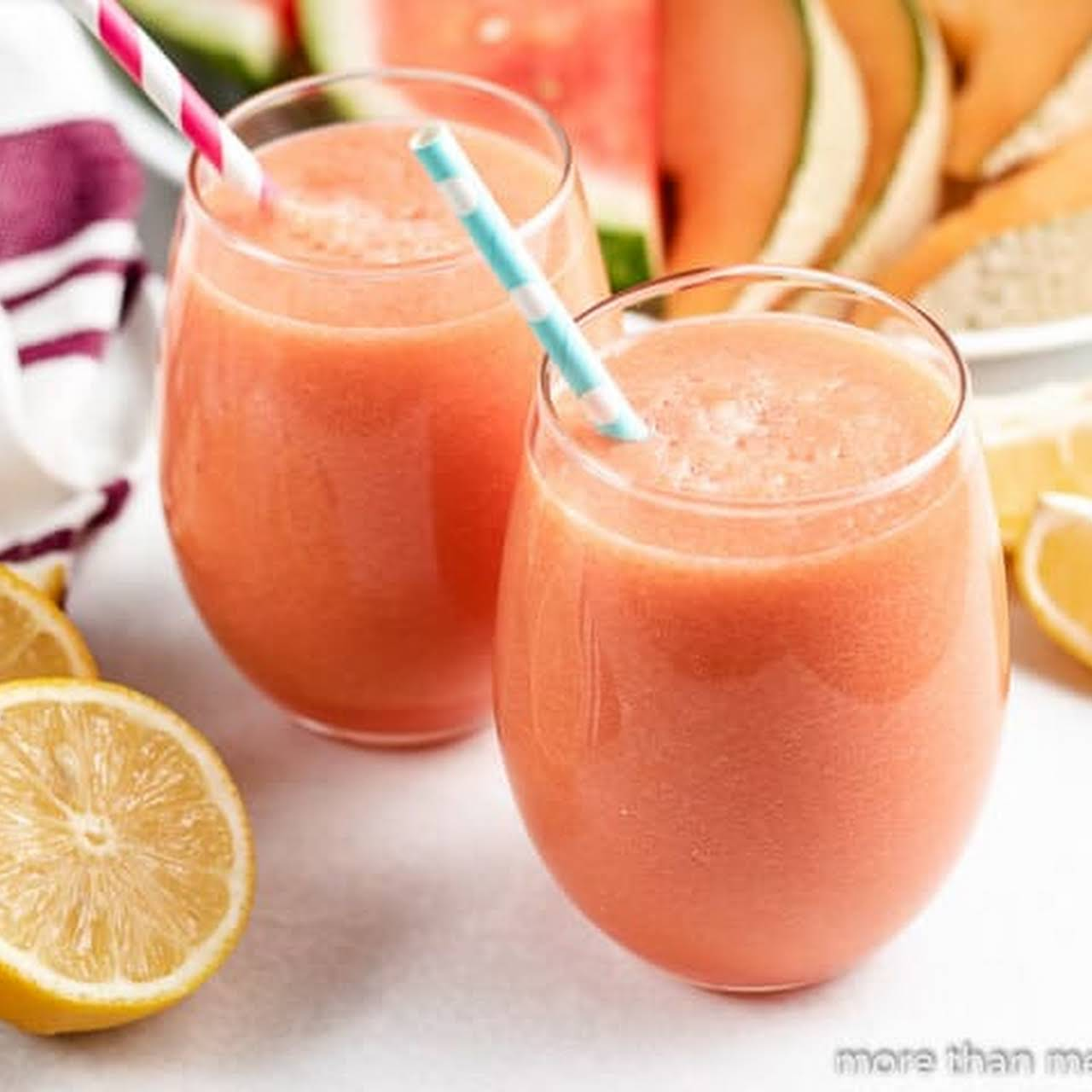 10 Best Cantaloupe Juice Recipes Yummly The musk melon pieces are so juicy while chewing, i just love this feeling. watermelon cantaloupe juice